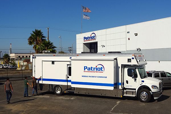 Patriot Environmental Services' mobile incident command center is a communications hub dispatched to a scene of an emergency