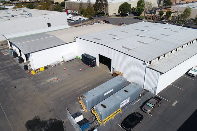 A Patriot Environmental Services' wastewater treatment facility that treats hazardous and non-hazardous liquid and sludge